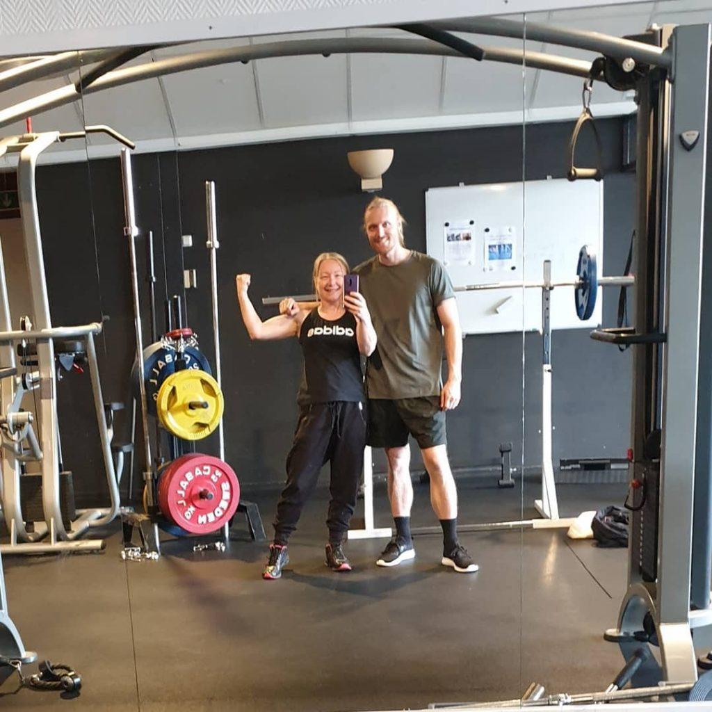 Jag och min son på gymmet