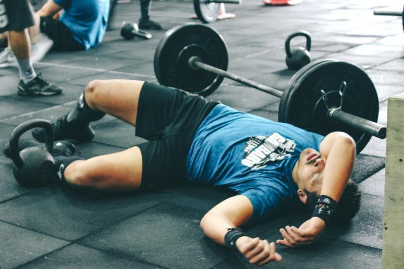 Uttröttad på gymmet
